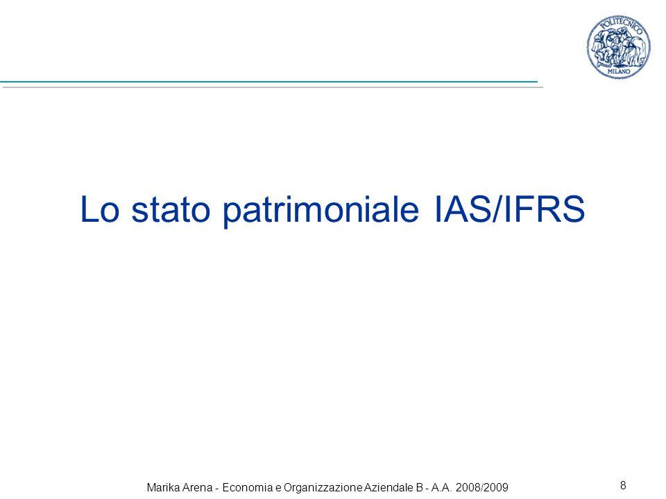 Lo stato patrimoniale IAS/IFRS