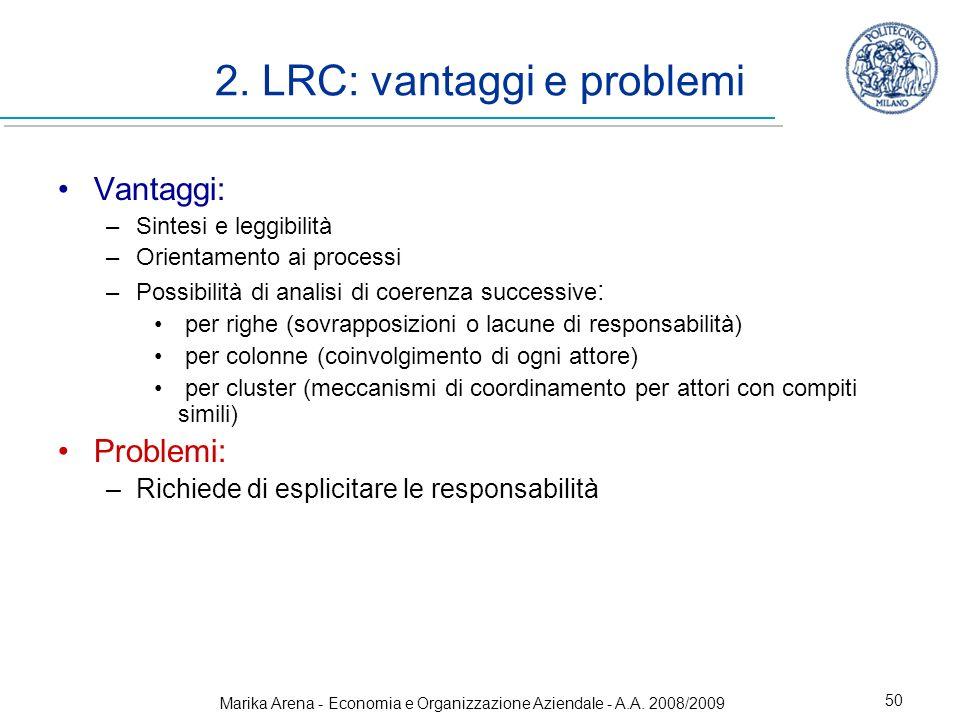 2. LRC: vantaggi e problemi