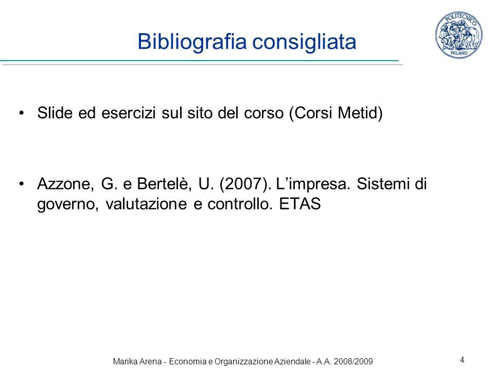 Bibliografia consigliata