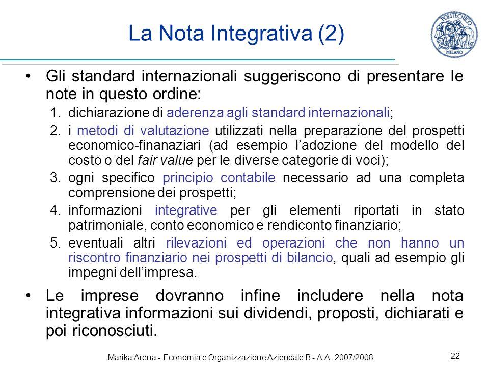 Marika Arena - Economia e Organizzazione Aziendale B - A.A. 2007/2008