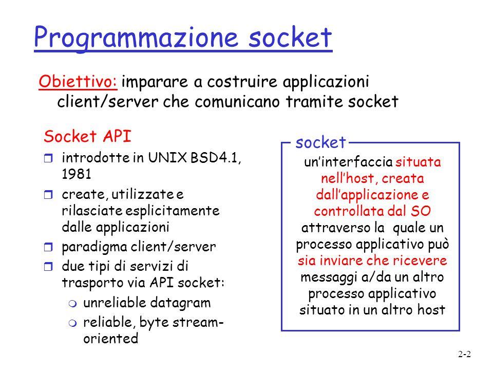 Programmazione socket