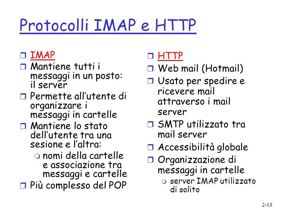 Protocolli IMAP e HTTP IMAP