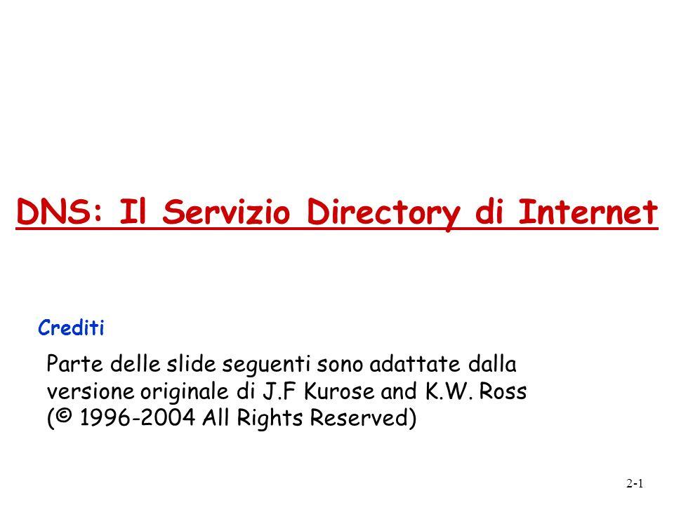 DNS: Il Servizio Directory di Internet