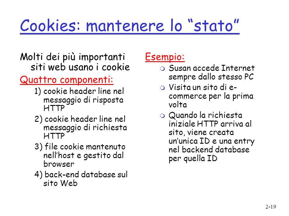 Cookies: mantenere lo stato