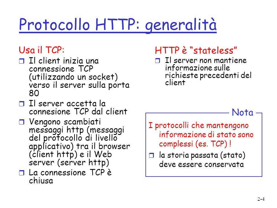 Protocollo HTTP: generalità