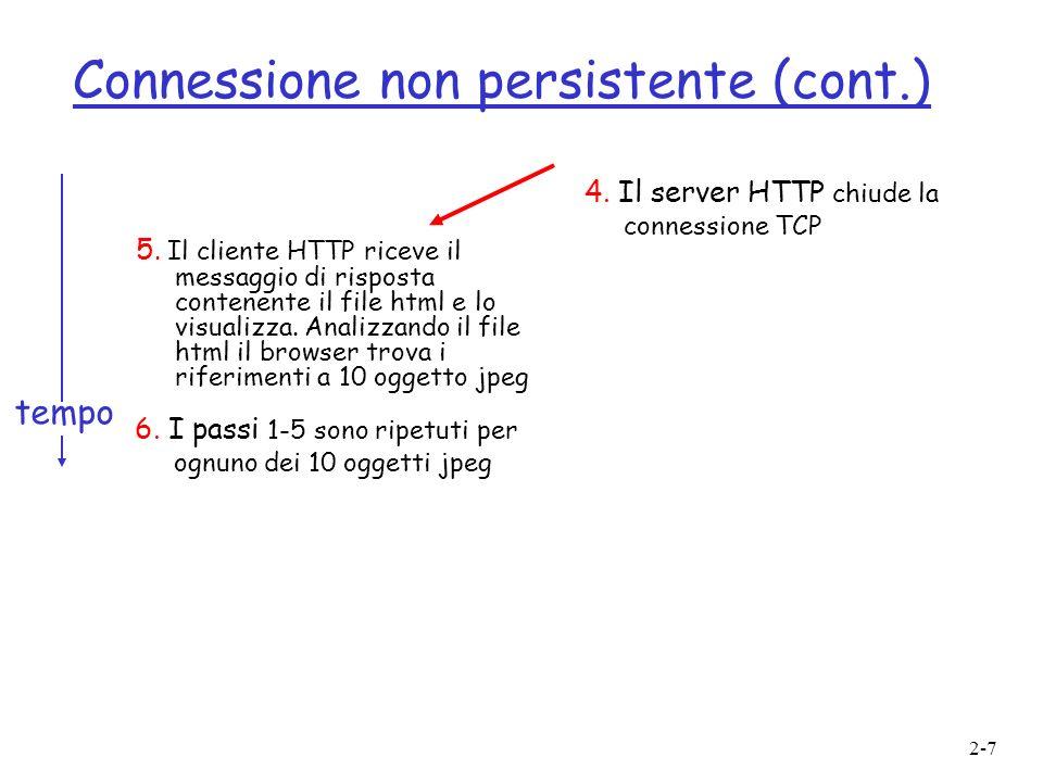 Connessione non persistente (cont.)