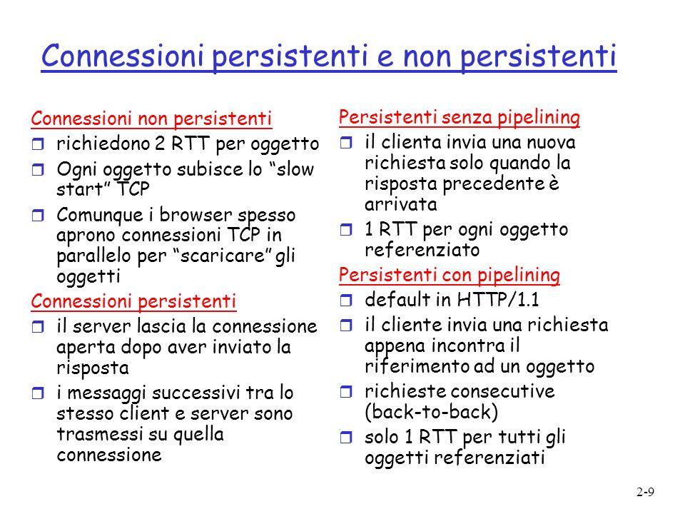 Connessioni persistenti e non persistenti