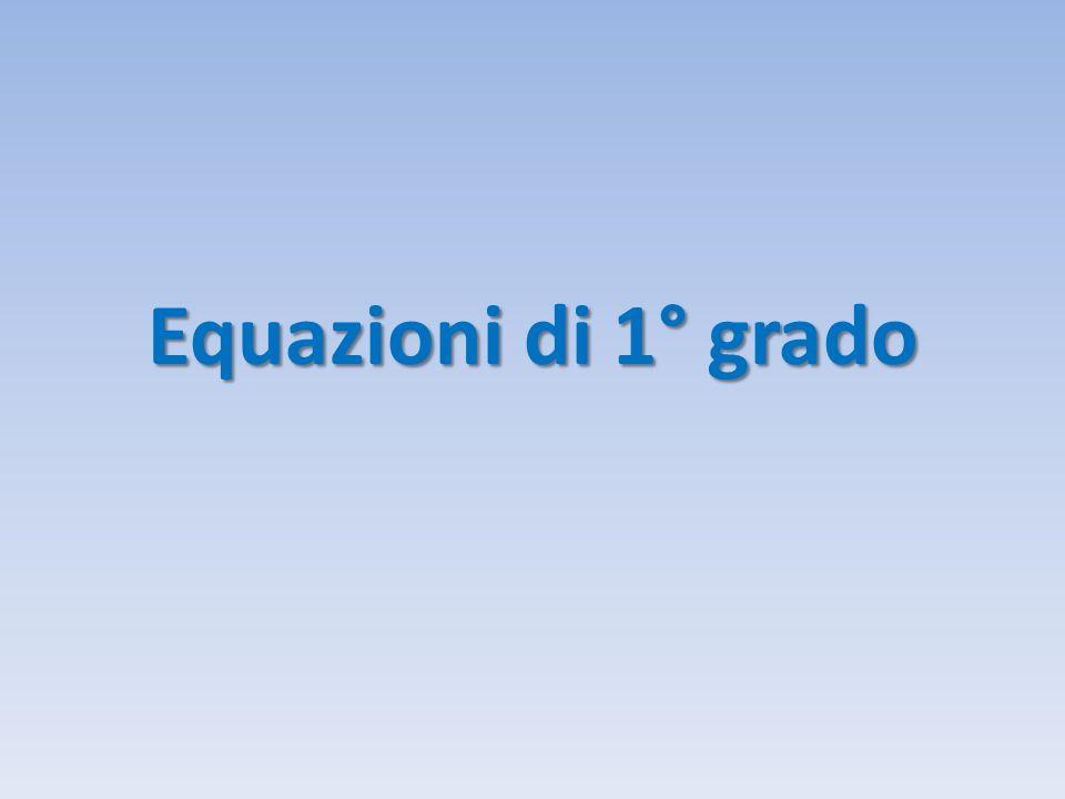 Equazioni di 1° grado