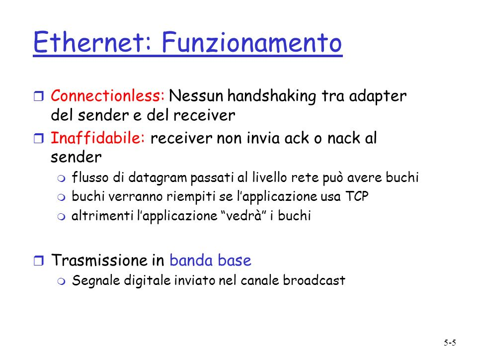 Ethernet: Funzionamento