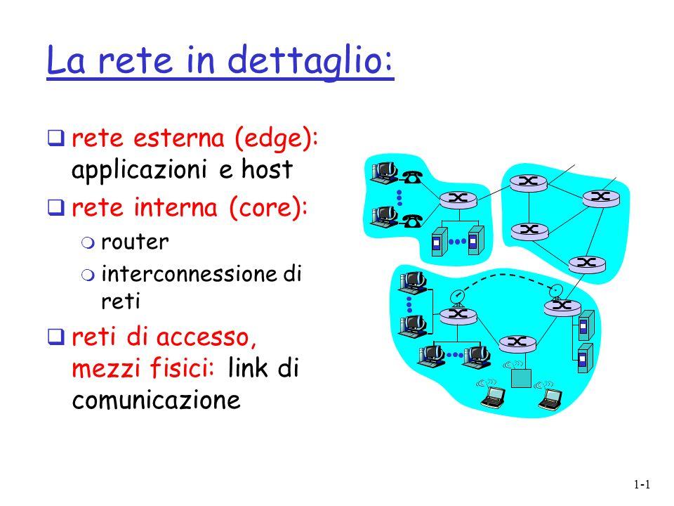 La rete in dettaglio: rete esterna (edge): applicazioni e host