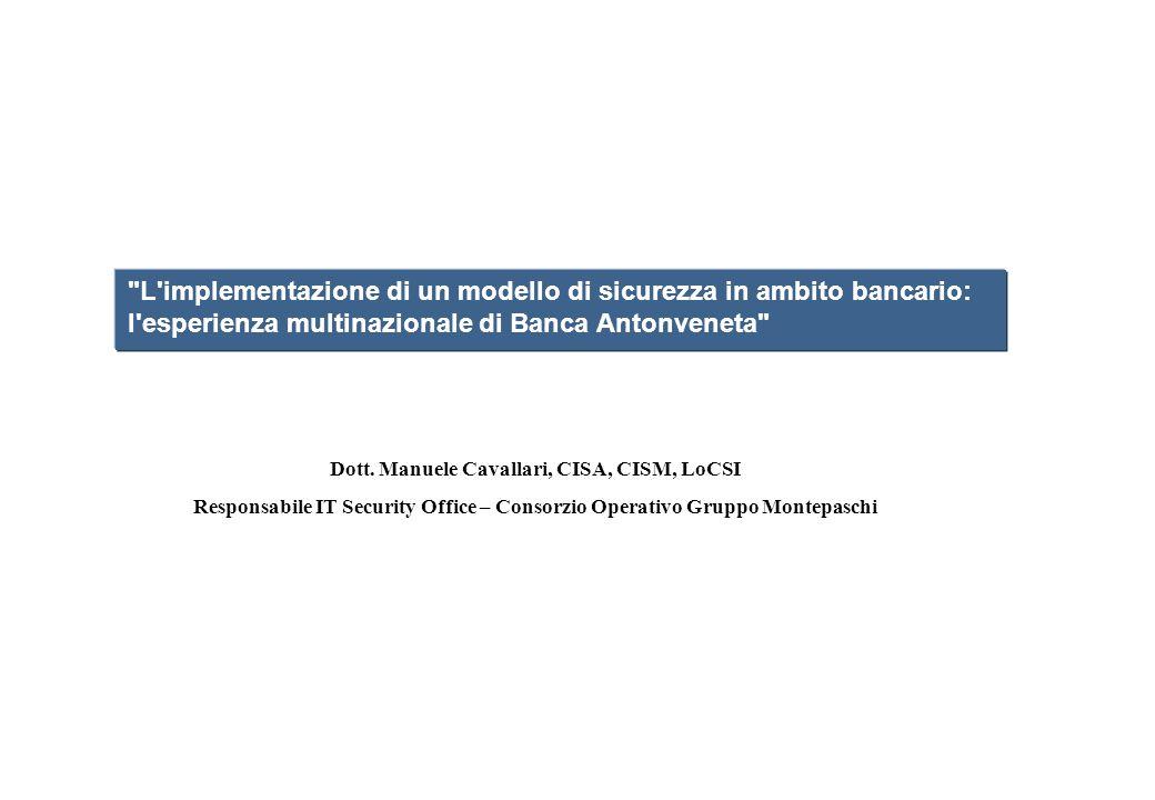 Dott. Manuele Cavallari, CISA, CISM, LoCSI