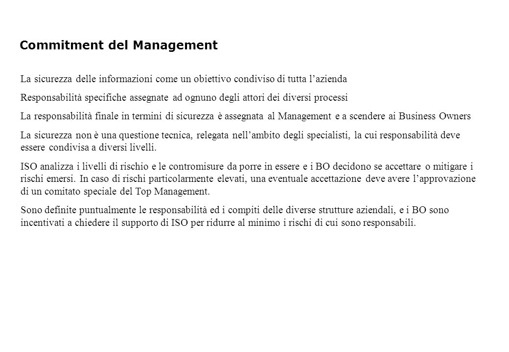 Commitment del Management