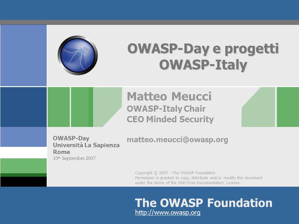 OWASP-Day e progetti OWASP-Italy