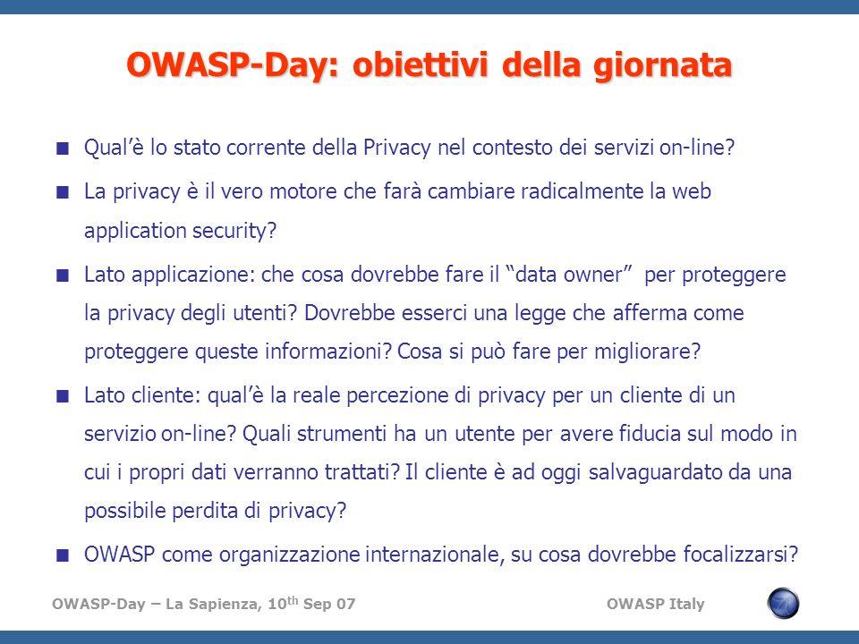 OWASP-Day: obiettivi della giornata