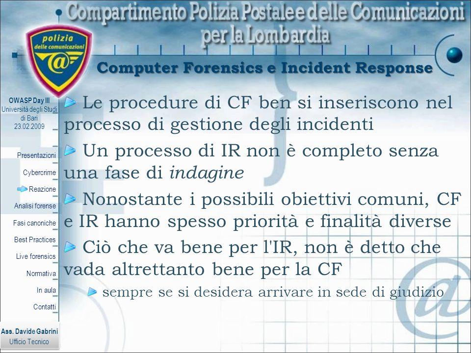 Computer Forensics e Incident Response