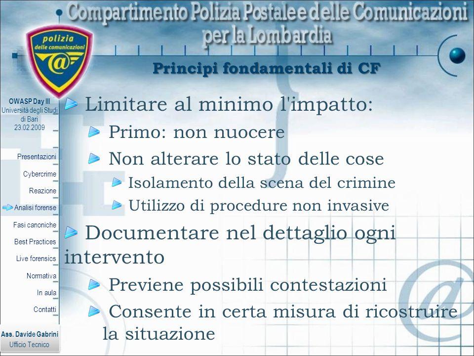 Principi fondamentali di CF