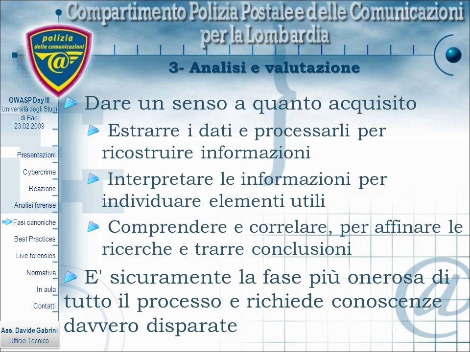 3- Analisi e valutazione