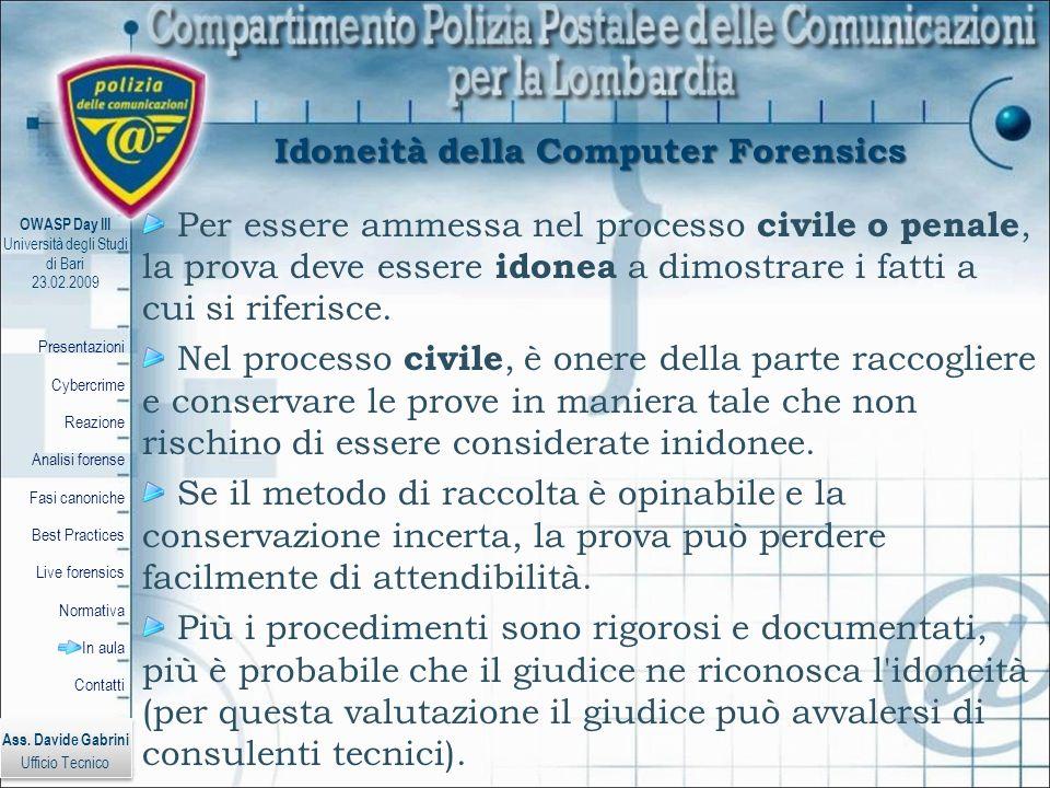 Idoneità della Computer Forensics