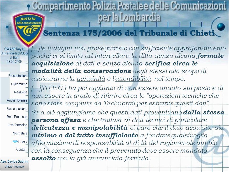 Sentenza 175/2006 del Tribunale di Chieti