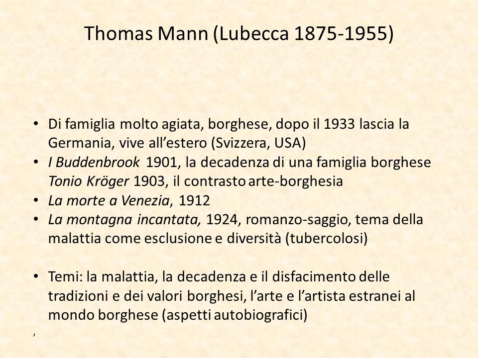 Thomas Mann (Lubecca 1875-1955)