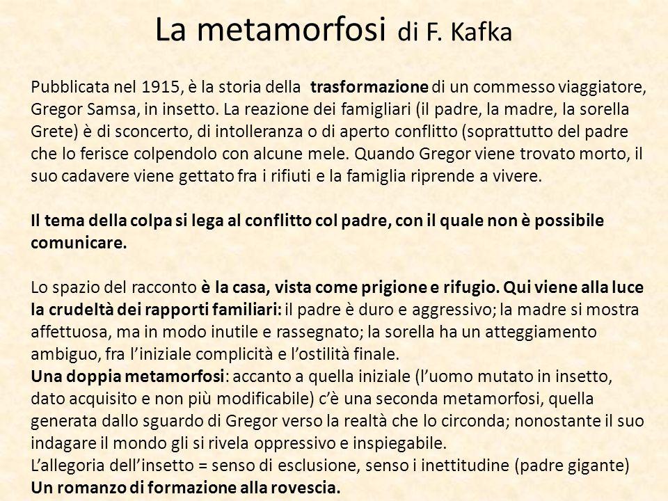 La metamorfosi di F. Kafka