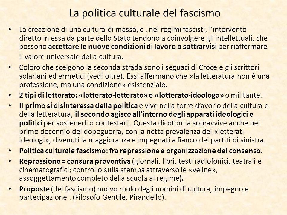 La politica culturale del fascismo