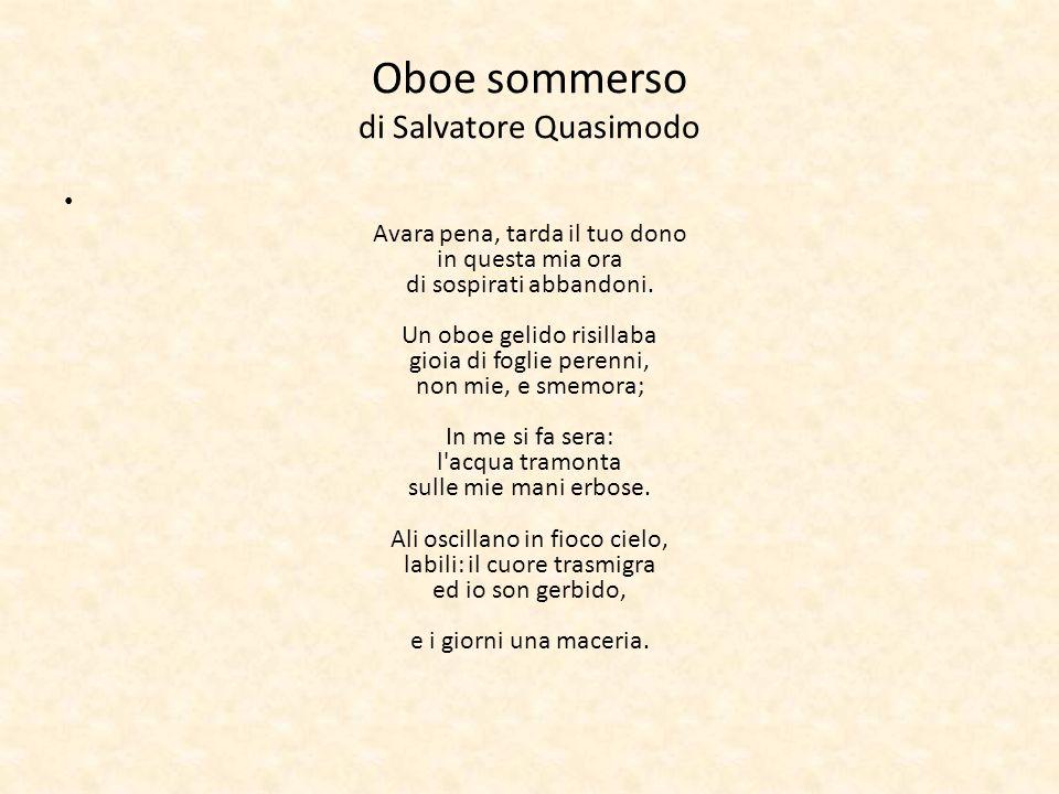 Oboe sommerso di Salvatore Quasimodo