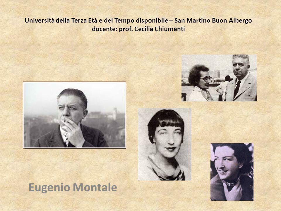 Università della Terza Età e del Tempo disponibile – San Martino Buon Albergo docente: prof. Cecilia Chiumenti