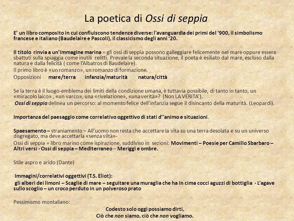 La poetica di Ossi di seppia