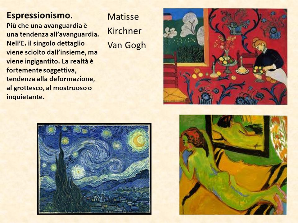 Matisse Kirchner Van Gogh