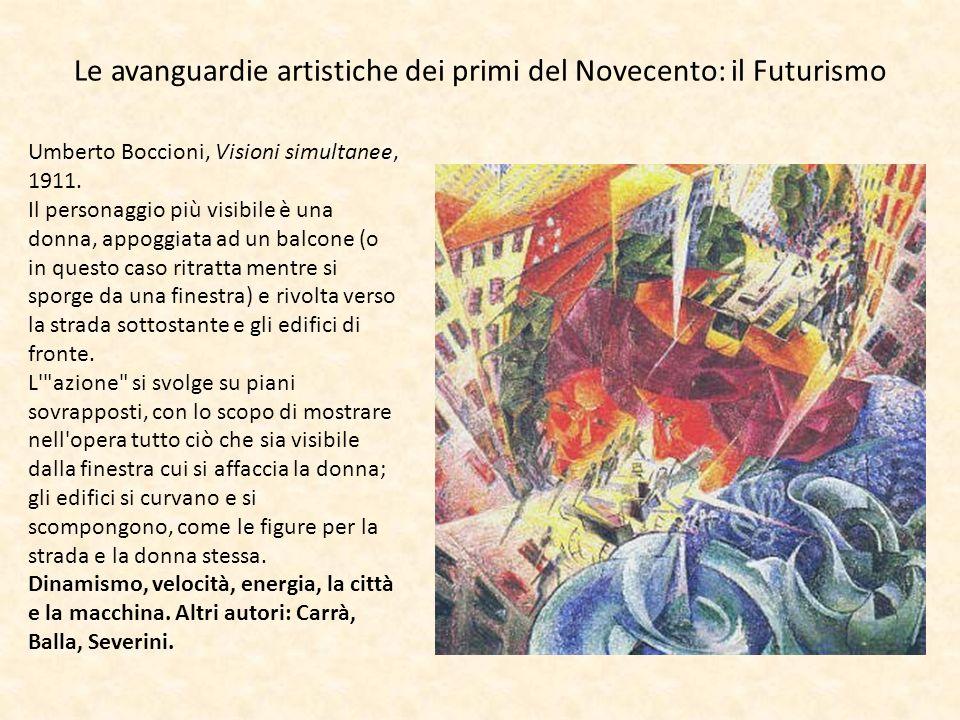 Le avanguardie artistiche dei primi del Novecento: il Futurismo