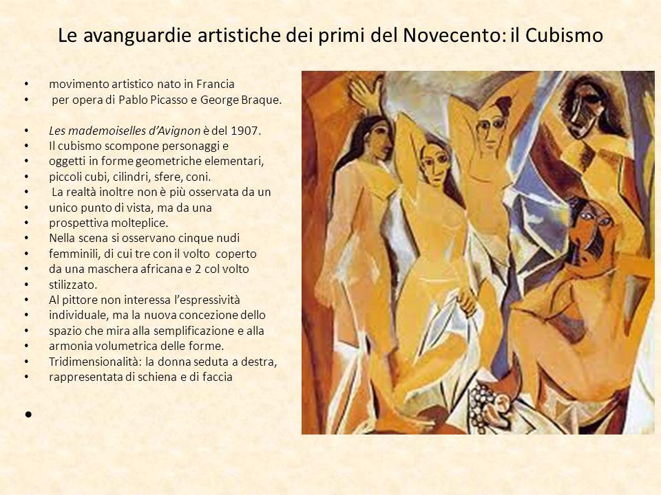 Le avanguardie artistiche dei primi del Novecento: il Cubismo