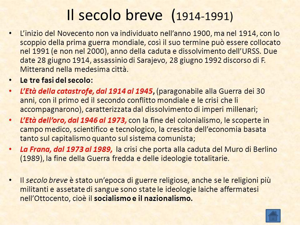 Il secolo breve (1914-1991)