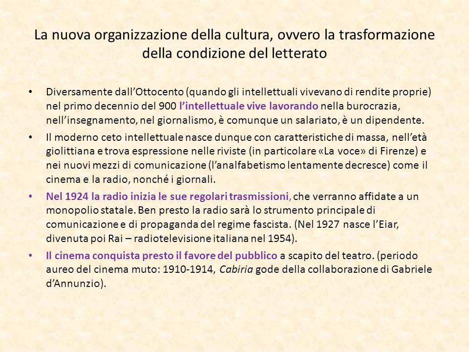 La nuova organizzazione della cultura, ovvero la trasformazione della condizione del letterato