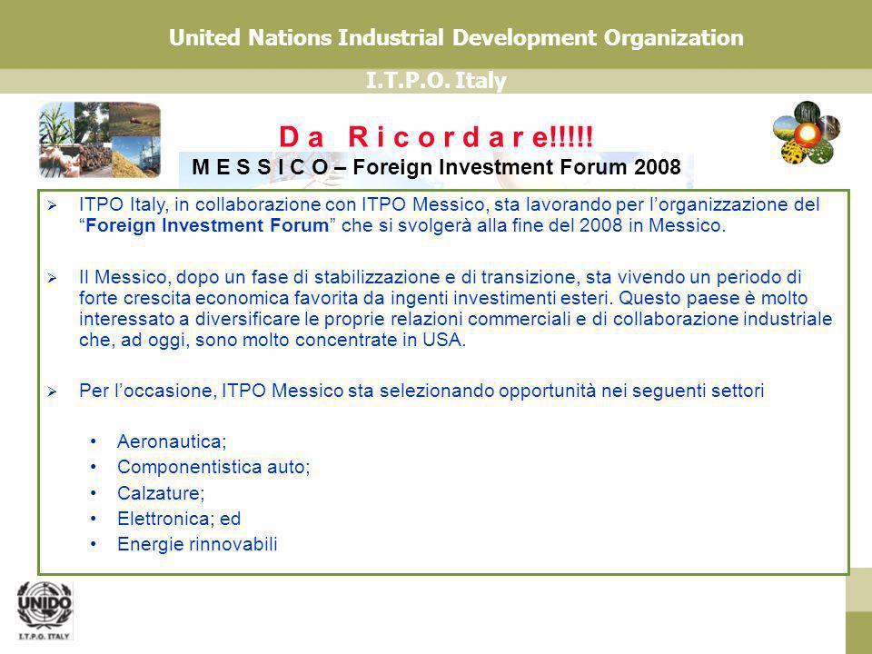 D a R i c o r d a r e!!!!! M E S S I C O – Foreign Investment Forum 2008