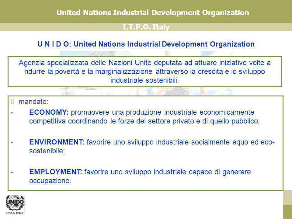 U N I D O: United Nations Industrial Development Organization