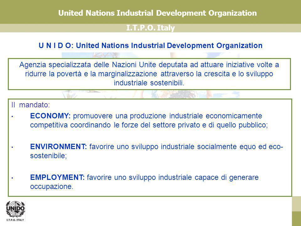 U N I D O: United Nations Industrial Development Organization