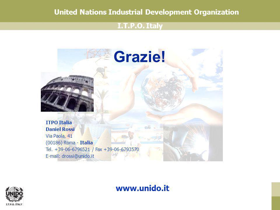 Grazie! www.unido.it ITPO Italia Daniel Rossi Via Paola, 41