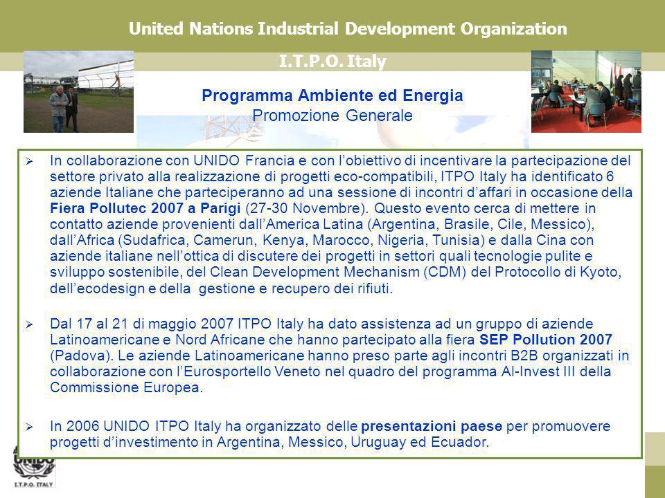 Programma Ambiente ed Energia Promozione Generale