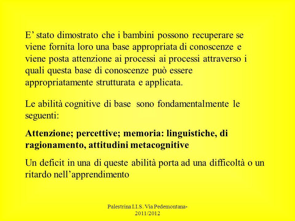 Palestrina I.I.S. Via Pedemontana- 2011/2012