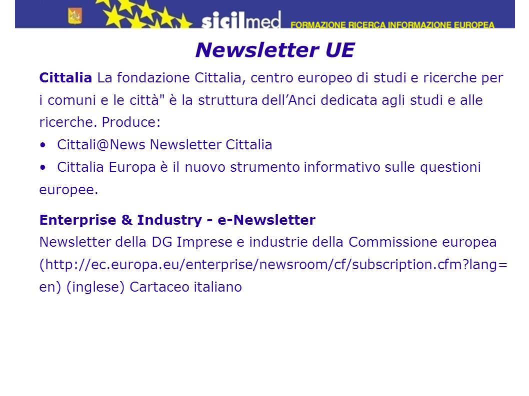 Newsletter UE