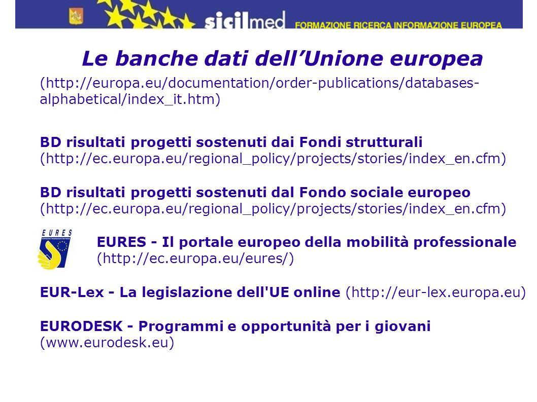 Le banche dati dell'Unione europea