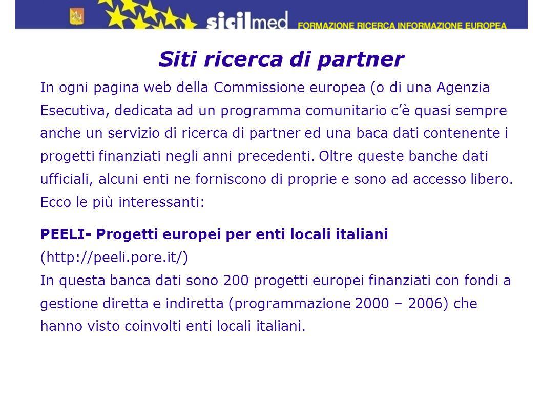 Siti ricerca di partner