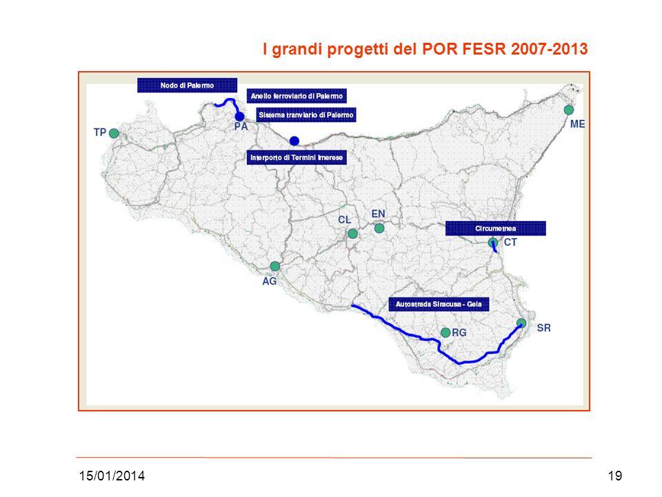I grandi progetti del POR FESR 2007-2013