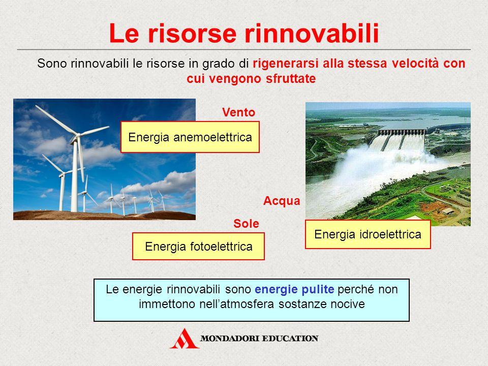Le risorse rinnovabili