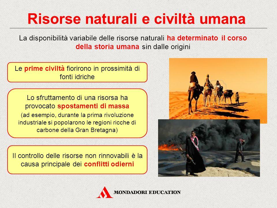 Risorse naturali e civiltà umana