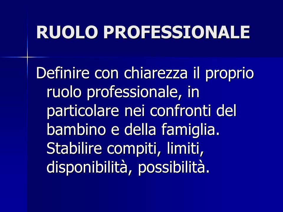 RUOLO PROFESSIONALE