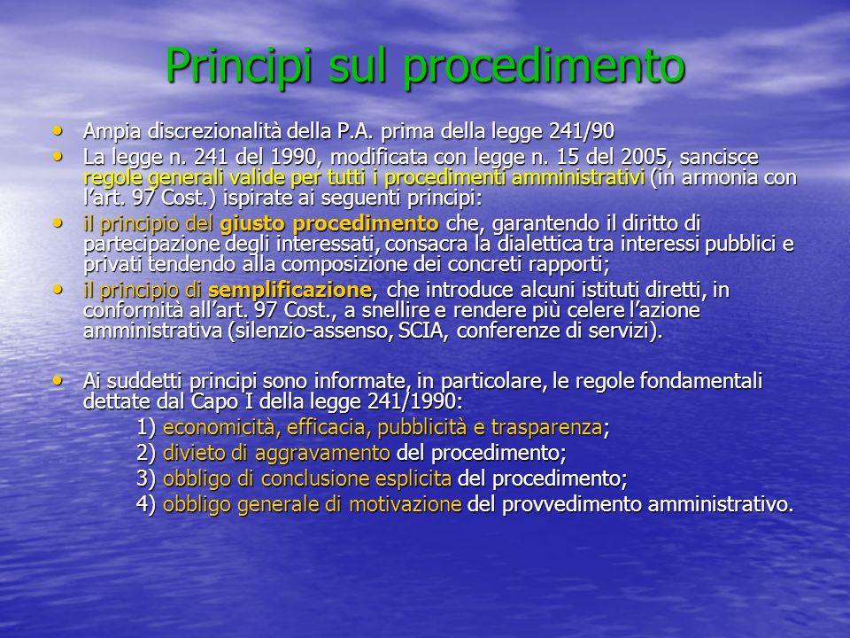 Principi sul procedimento