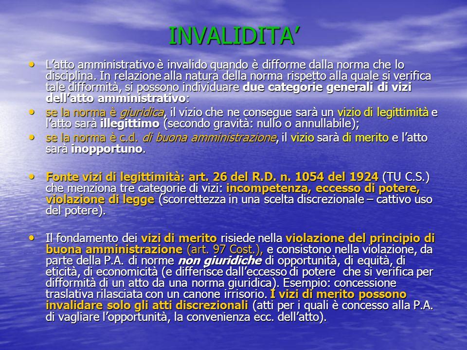 INVALIDITA'