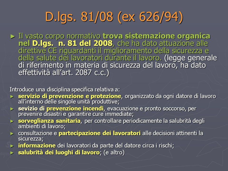 D.lgs. 81/08 (ex 626/94)